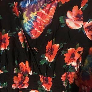 Forever 21 Dresses - Forever 21 black and red Floral dress